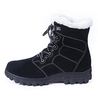 Women's Fur Lined Cold Weather Winter Non-Slip Ankle Boots