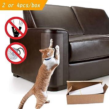 Authda Protectores de Muebles para Gatos y Mascotas Protectores de Arañazos para Puertas de Sofás y Productos de Madera Flexibles Transparentes para ...