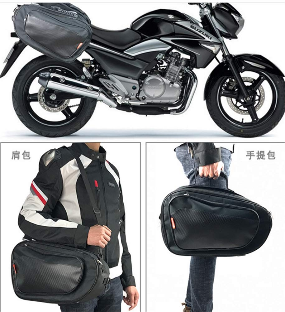 Amazon.com: DDPP Motorcycle Side Luggage Locomotive Rider Saddle Bag Rear seat Bag Side Pack Prince car Bag Helmet Bag Waterproof Men: Sports & Outdoors