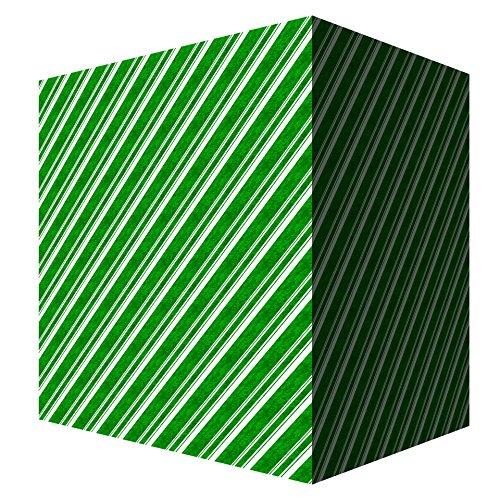Laminated Poster Green Gift Box With White Stripe Illustrations Print