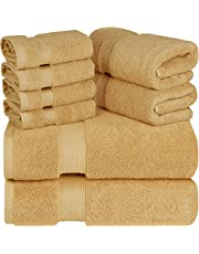 Utopia Towels - Premium Towel Set, 2 Bath Towels, 2 Hand Towels, and 4 Washcloths - 700 GSM Ring Spun Cotton Highly Absorbent Towels for Bathroom, Shower Towel, (8 Pieces)