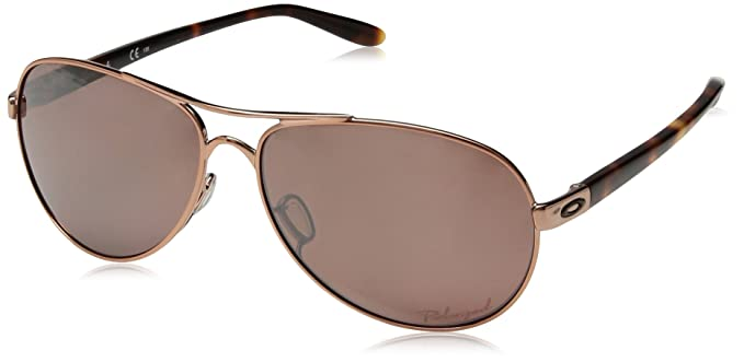 b20234b7b1 Image Unavailable. Image not available for. Colour  Oakley Women s Feedback  Polarized Iridium Aviator Sunglasses
