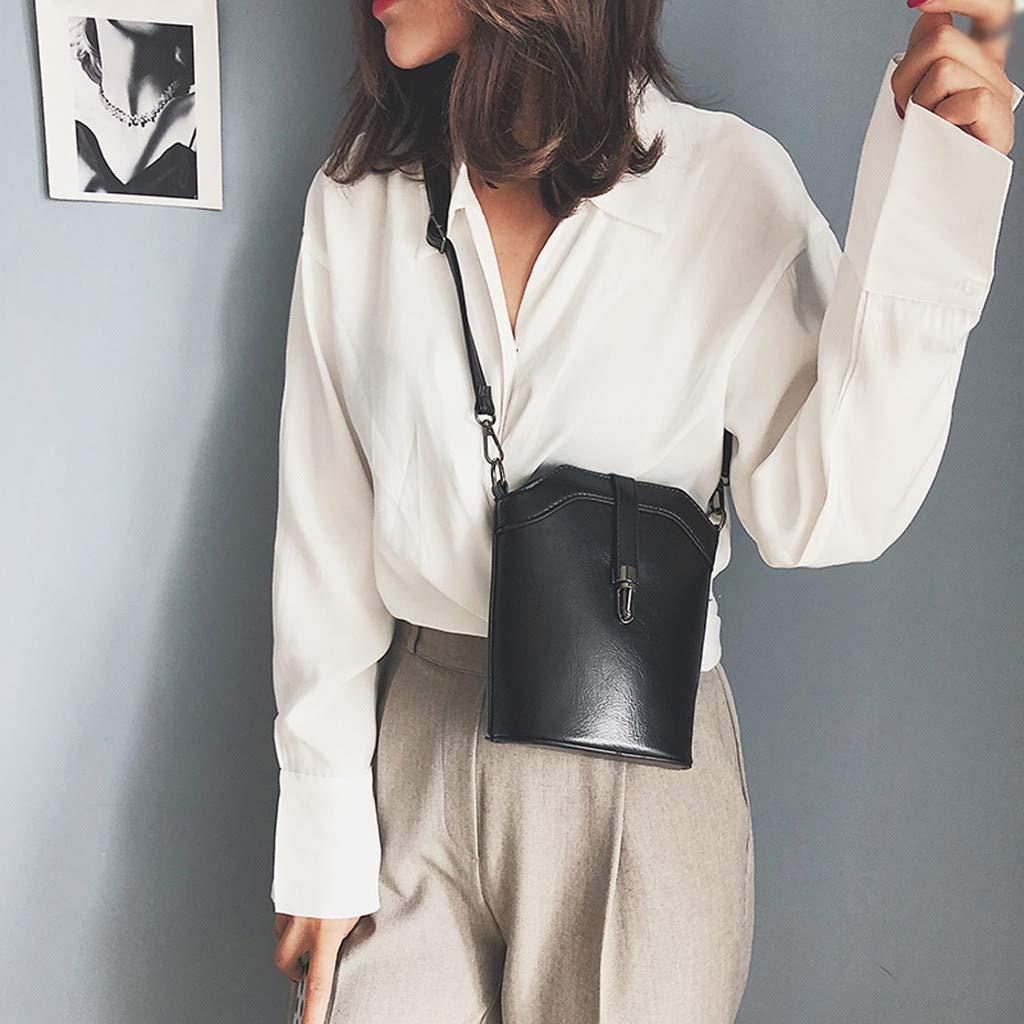 Rosennie Womens Cross Body Bags,Ladies Pure Colour/Wild Shoulder Bag Leather Messenger Bags Fashion Long Strap Top Handle Bags Handbags