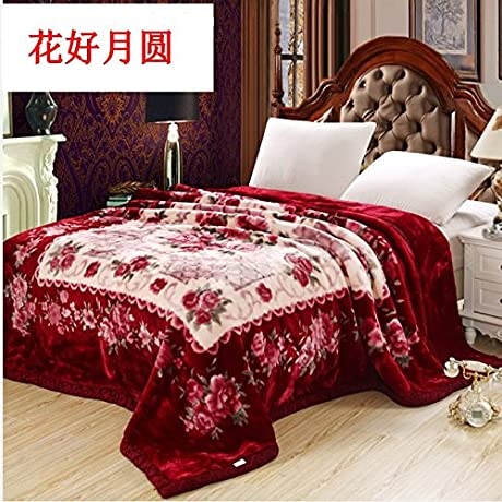 Znzbzt Blanket Thick Double Spring And Summer And Winter Wedding Celebration Red Fleece Blanket Blanket Blanket Student 200x230cm9 Catty Take On Good