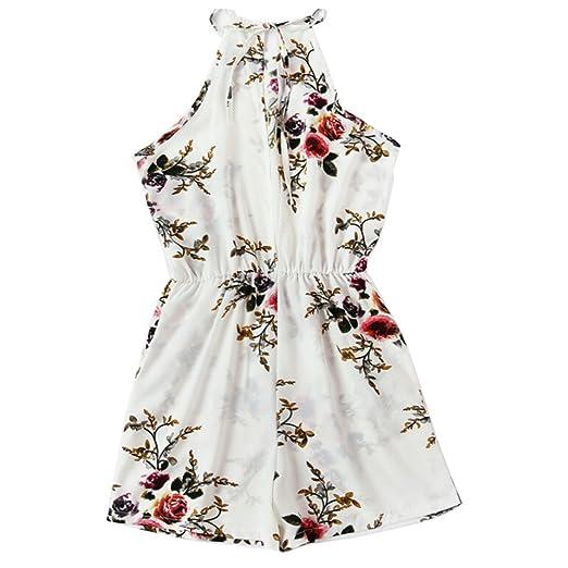 fa521fb06a83 Maoyou Women Floral Print Boho Playsuit Bodycon Beach Dress Jumpsuit Romper  Trouser (S