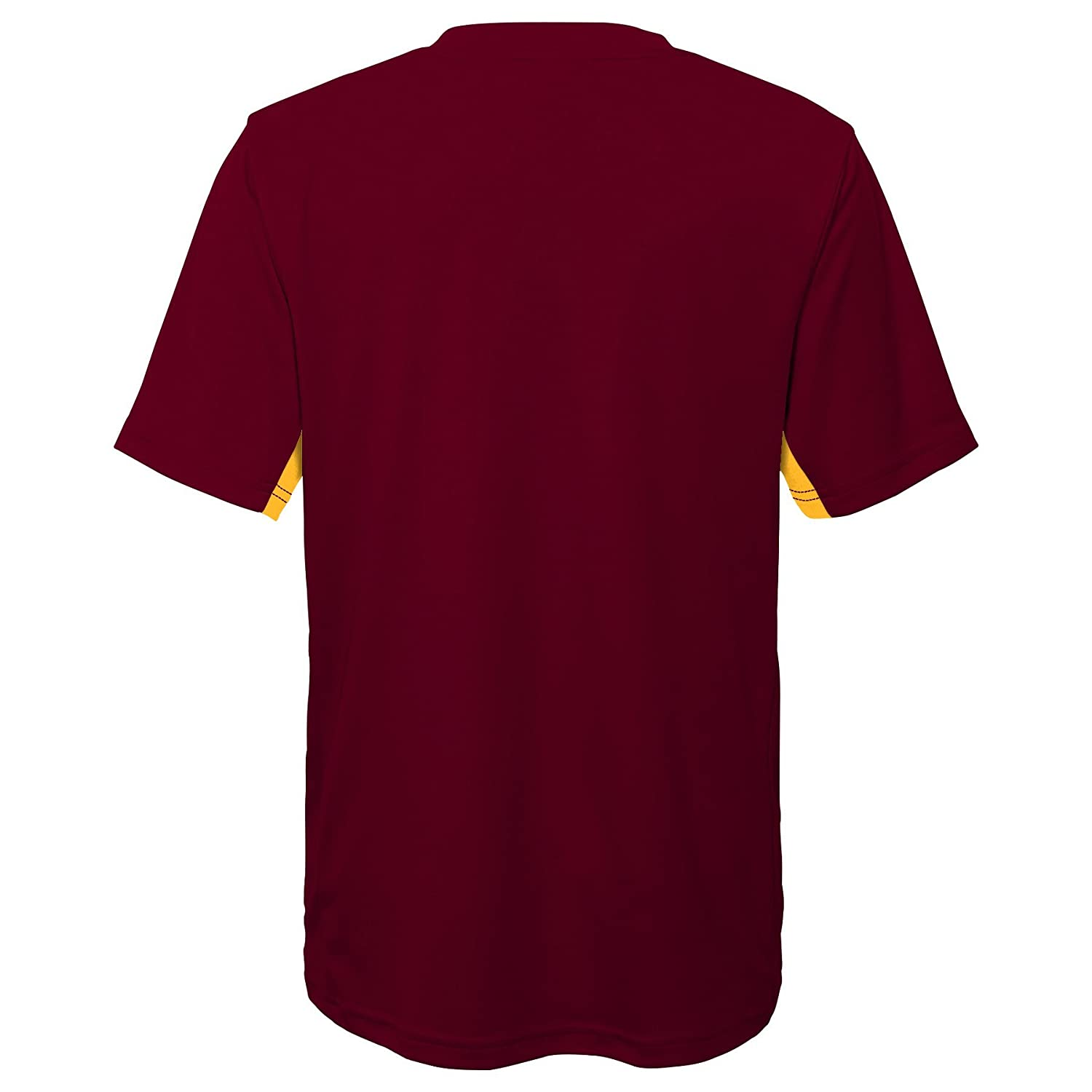 Youth Medium 10-12 NCAA by Outerstuff NCAA Arizona State Sun Devils Youth Boys Mainframe: Short Sleeve Performance Top Maroon