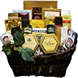 Art of Appreciation Gift Baskets Pick of the Season Gourmet Food Basket with Smoked Salmon (Chocolate)
