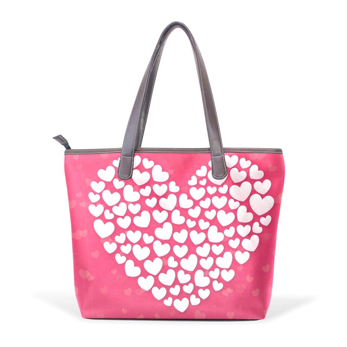 Happy Valentines Day Womens Fashion Large Shoulder Bag Handbag Tote Purse for Lady