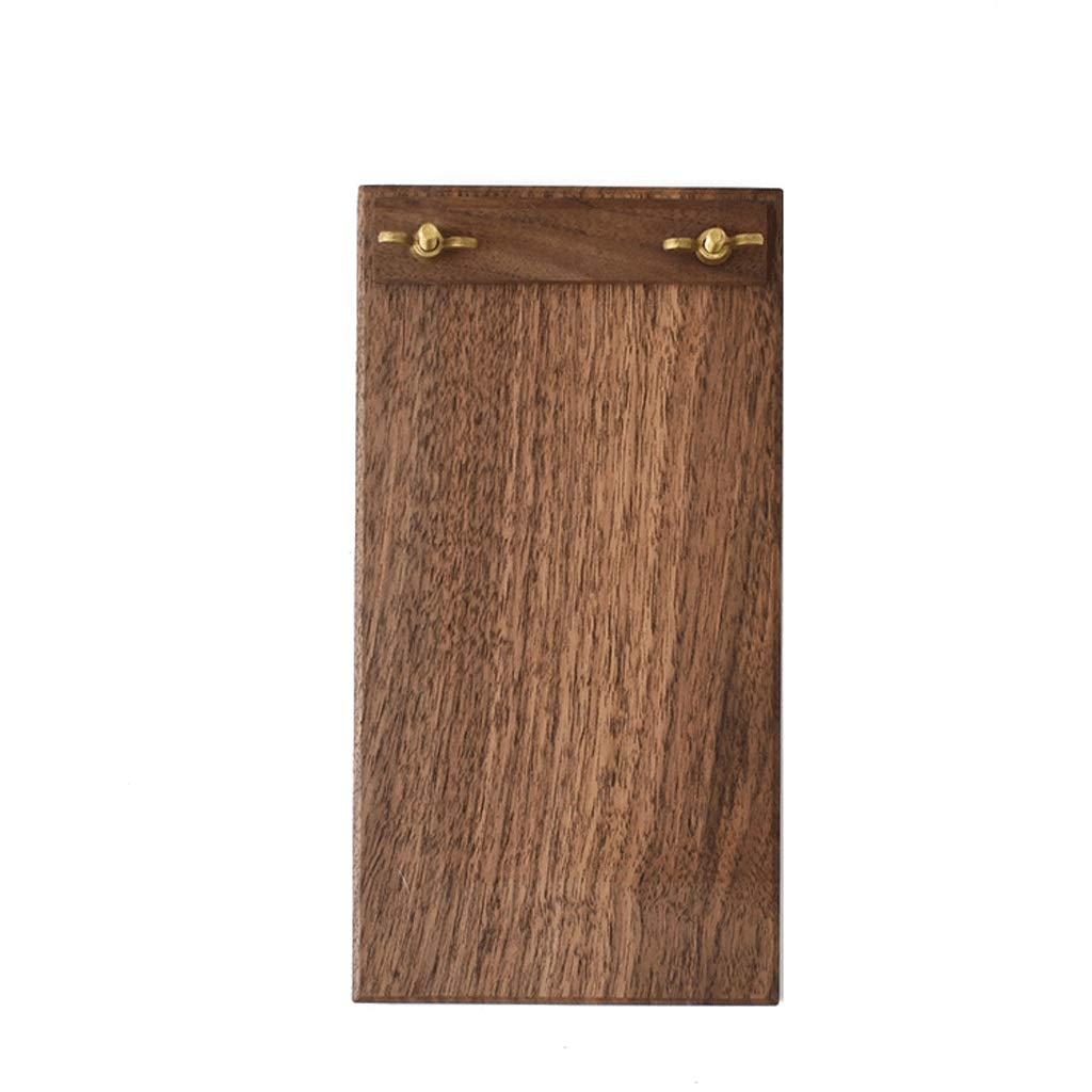 Folders File Coffee Shop Brass Solid Wood menu Clip Tea Room Point Single Clip pad Small (Size : 1529.3cm)