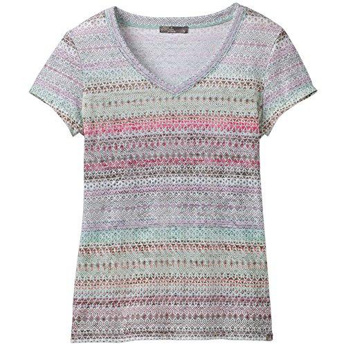 prAna Women's Short Sleeve Portfolio V-Neck T-Shirt, Bora Bay Maya, -