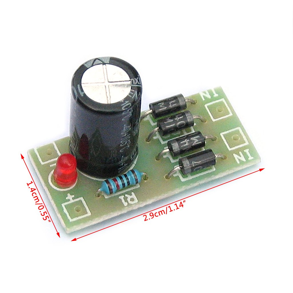 Goodqueen Ac Dc Converter 6 12 24v To 12v Full Bridge Series Circuit With Buzzer And Switch Also Rectifier Filter Power Supply Module Home Audio Theater