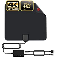 TV Antenna Indoor HDTV Digital Antenna 60-120 Miles Range Amplified Antenna with 2020 Newest Amplifier Signal Booster…