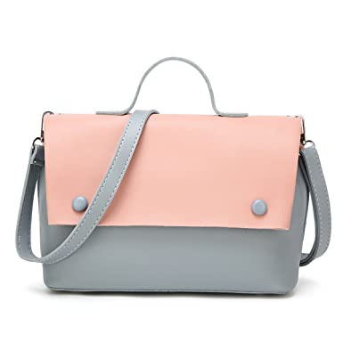 a107e7634a92 Amazon.com: Korean Version Fashion Stitching Handbags Shoulder Bag ...