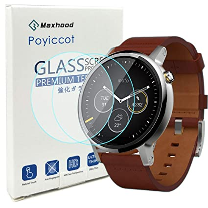 Protection décran en verre trempé Motorola Moto 360 2 nd Gen Smartwatch 46 mm, ...