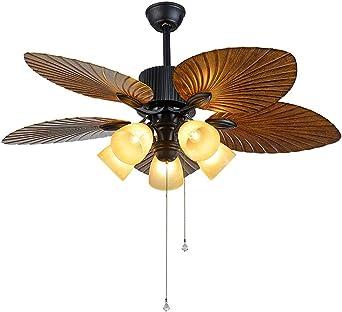 JRQH 5 luces 5 cuchillas iluminación interior ventilador de techo ...