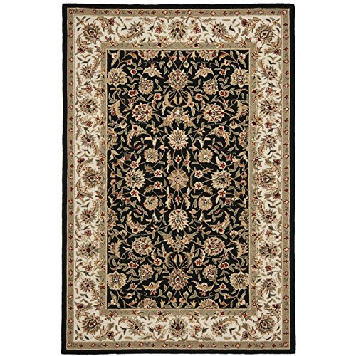 Safavieh Chelsea Collection HK78A Hand-Hooked Black Premium Wool Area Rug (5'3