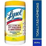 Lysol Toallitas Desinfectantes Citrus Lysol, 80 Toallas Humedas