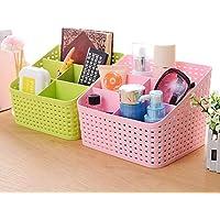 FASTUNBOX (LABEL) Plastic Storage Basket, 21.7x18.3x15.9 cm, Multicolour - Set of 2 Pieces
