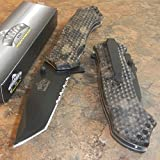New Master Brown Skull CAMO Tanto Spring Assisted Opening Hunting Pocket Eco'Gift LIMITED EDITION Knife with Sharp Blade Great For Fun and Practical Use!