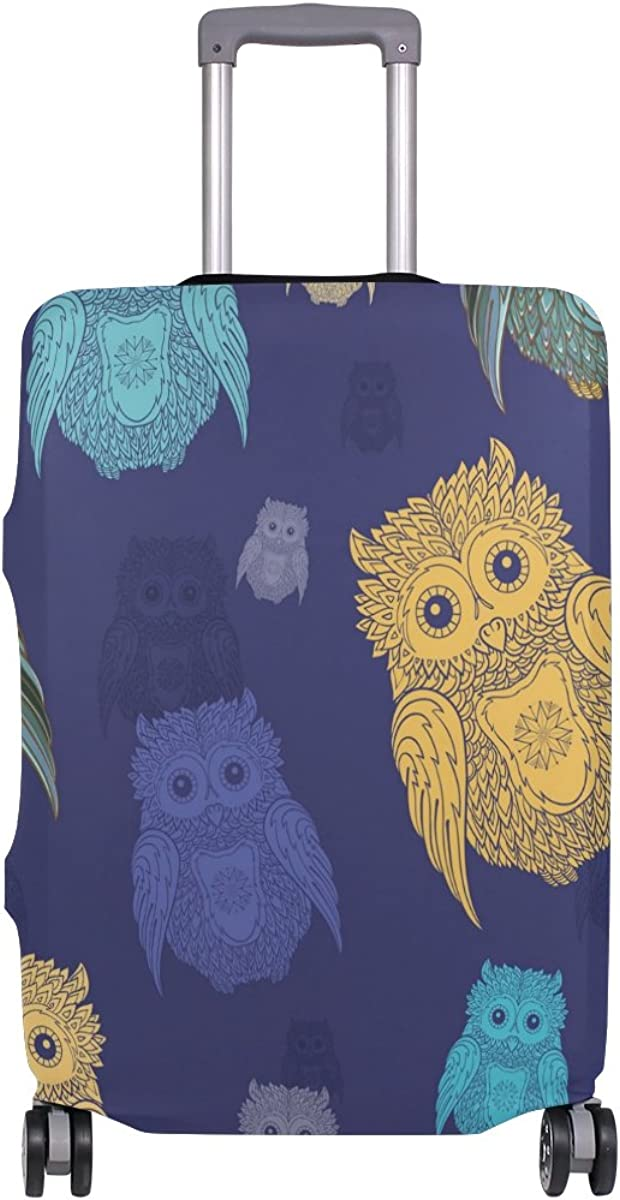 GIOVANIOR Vintage Owls Luggage Cover Suitcase Protector Carry On Covers