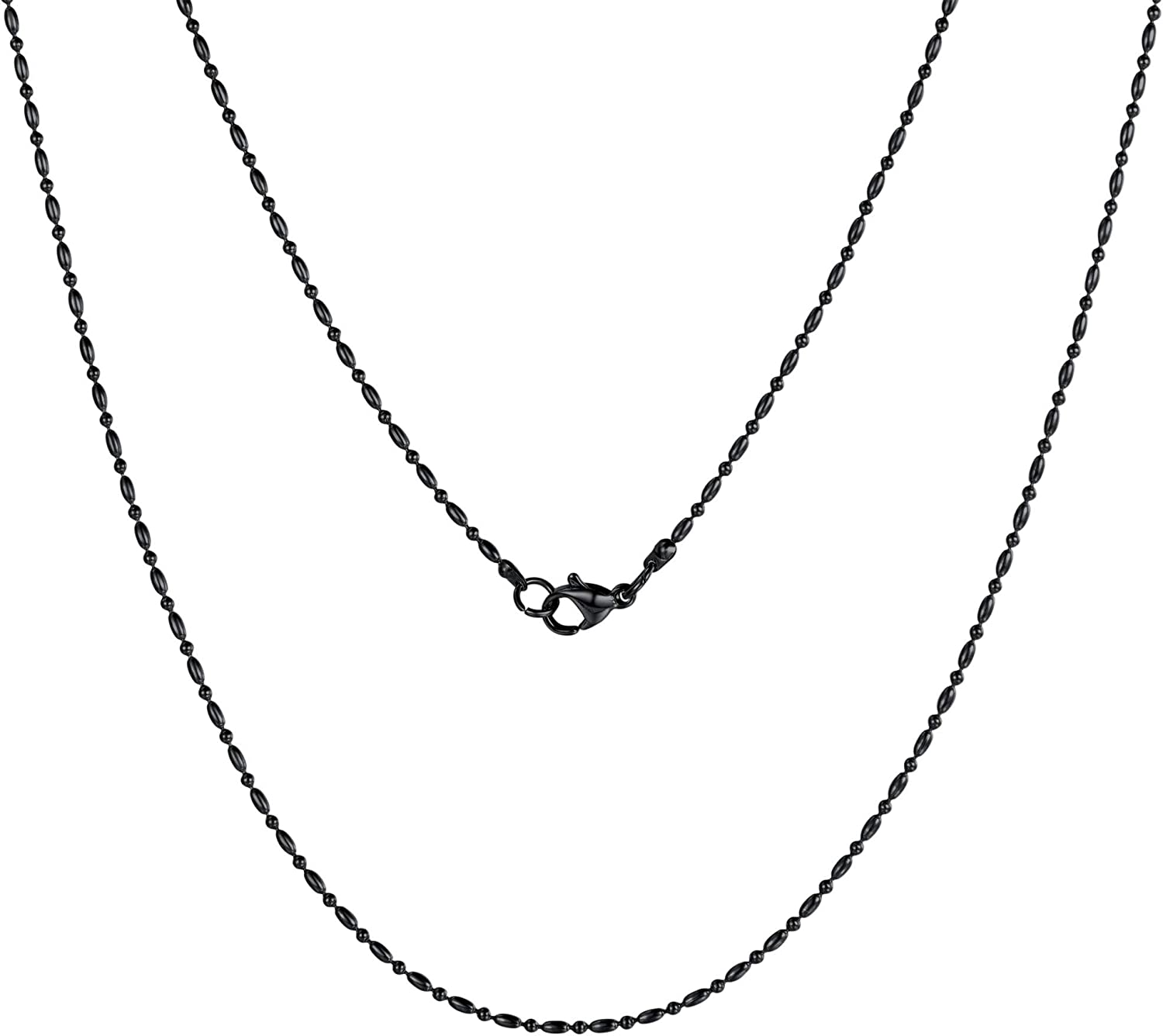 """ChainsPro Women Slim Chain, Replacement Necklace, 18-30"""" Length, 18K Gold Plated/925 Sterling Silver Send Gift Box"""