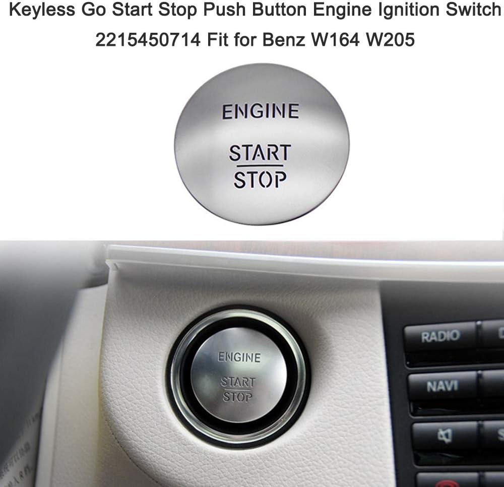 Kkmoon Auto Start Stop Engine Knopf Ein Knopf Zum Starten Des Auto Keyless Go Start Stop Druckknopf Motor Zündschalter 2215450714 Passend Für Ben Z W164 W205 Auto