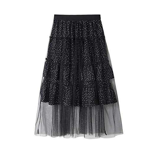 Qijinlook 💖 Faldas Tul Mujer Fiesta Elegante💖Falda de Malla de ...