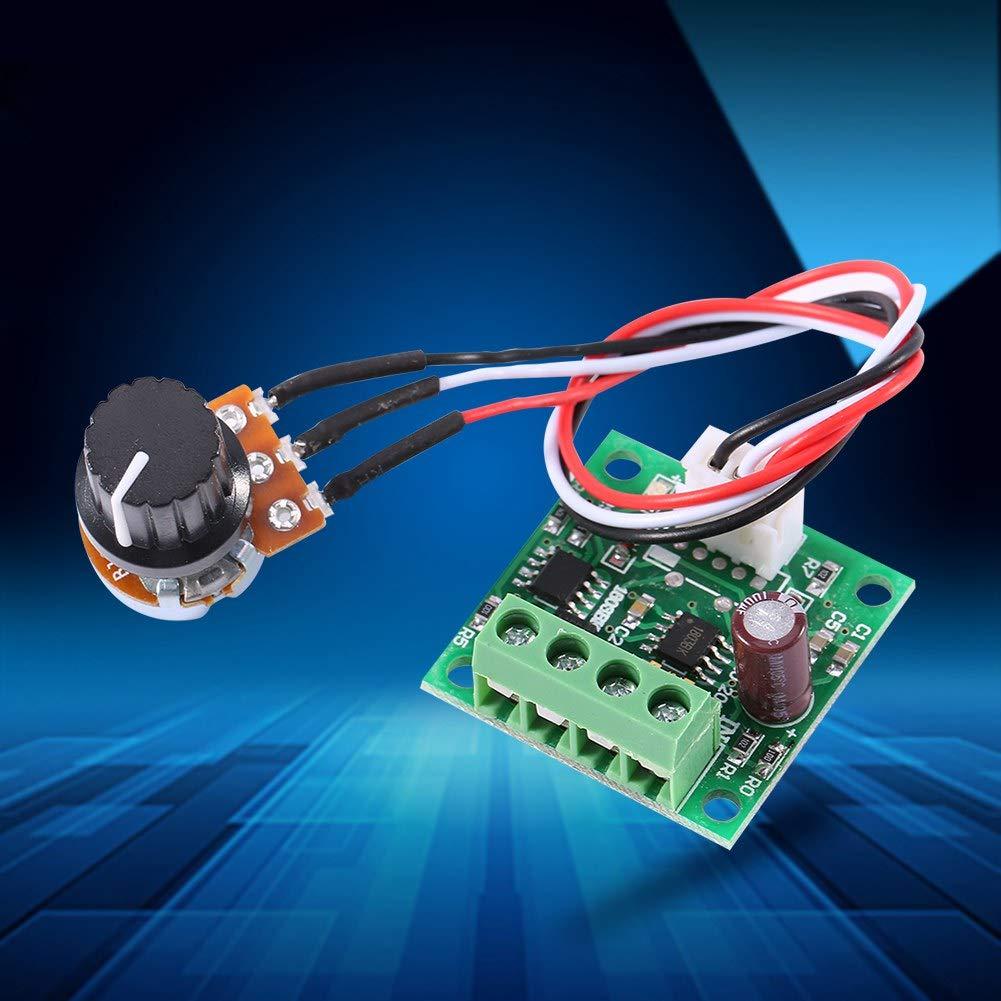 DC Mini Motor Speed Controller,Adjustable Motor Speed Controller Regulator Control Module Low Voltage 1.8 V to 15 V 2A