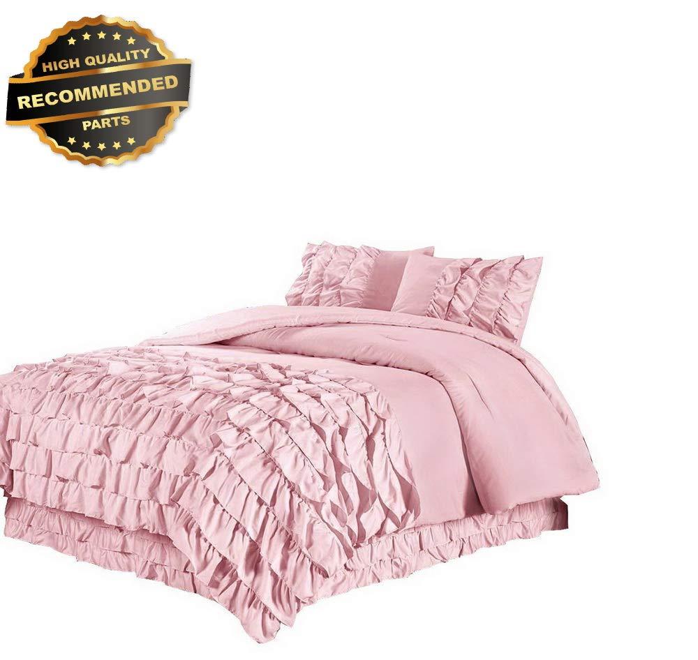 @homechoice 7 Pc Claraita Pleated Ruffled Comforter Set Teal Queen
