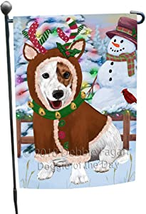 Doggie of the Day Christmas Gingerbread House Candyfest Jack Russell Terrier Dog Garden Flag GFLG56915