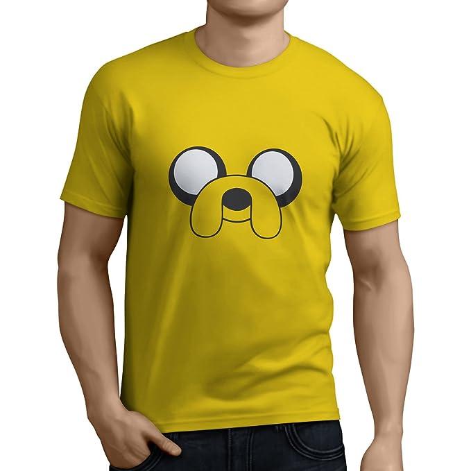 Tuning Camisetas - Camiseta Divertida para Hombre - Modelo horadeaventurasJAKE, Color Amarilla- Talla S