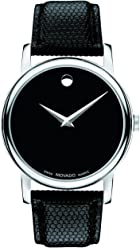 Movado Mens 2100002 Museum Black Stainless Steel Watch