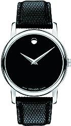 Movado Mens 2100002 Museum Black Stainless Steel Watch