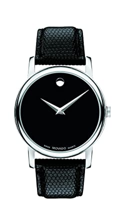 1bb6295cf Image Unavailable. Image not available for. Color: Movado Men's 2100002  Museum Black Stainless Steel Watch