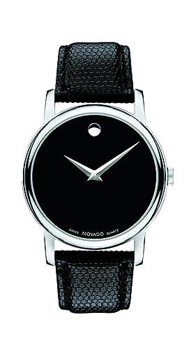 Movado Men s 2100002 Museum Black Stainless Steel Watch