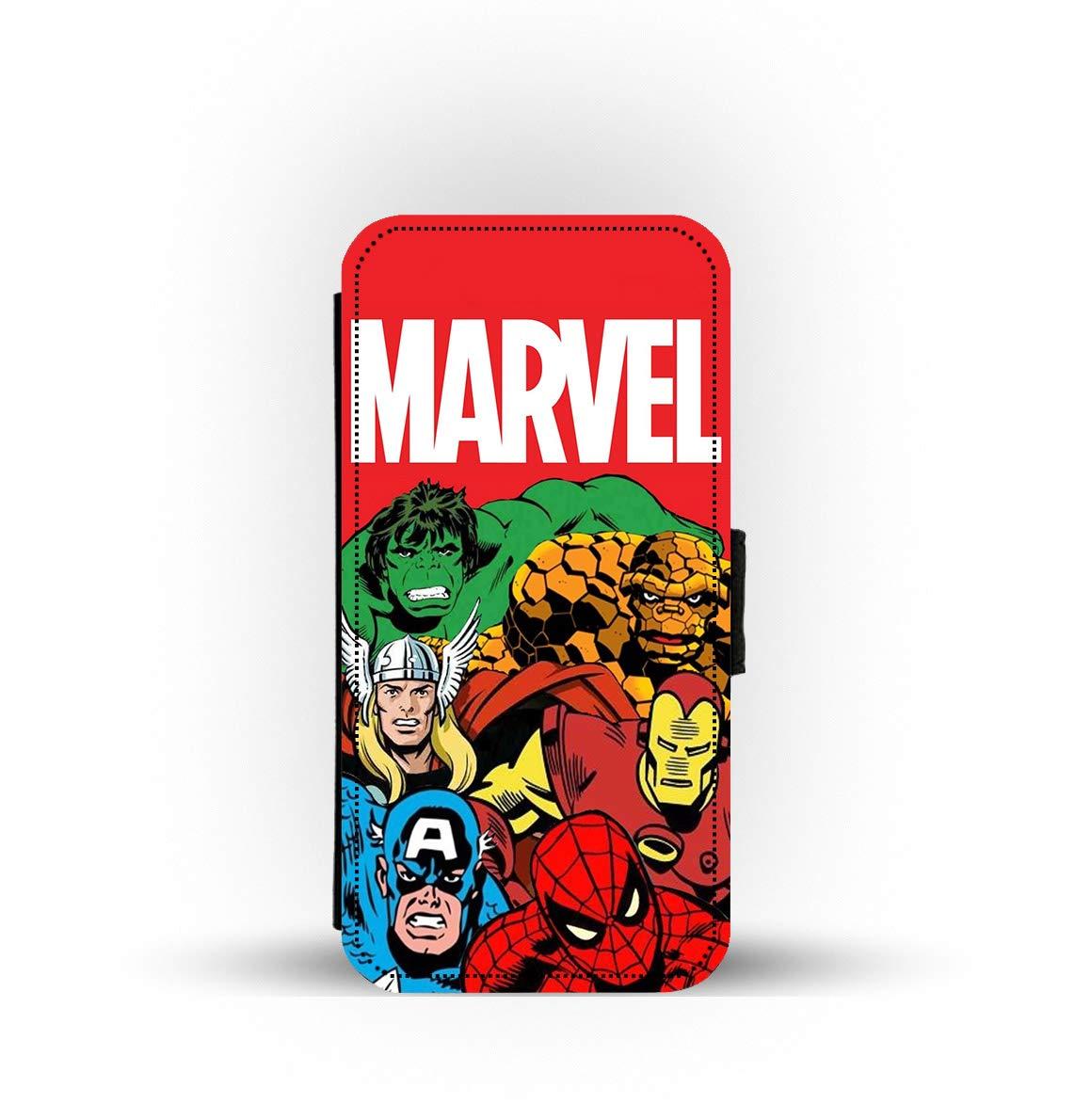 dise/ño de los Vengadores de Marvel de los 90s Funda con Tapa para iPhone con Tarjetero Dreams Ltd