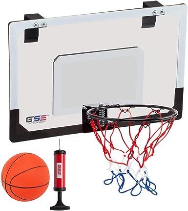 Juego de Juguetes para ni/ños montado en la Pared WolfGo Tablero de Baloncesto Mini Sistema de Baloncesto Interior Kit de aro de Tablero para Puerta