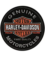 Harley-Davidson Emblem, Long Bar & Shield, Small Size Patch EM312642