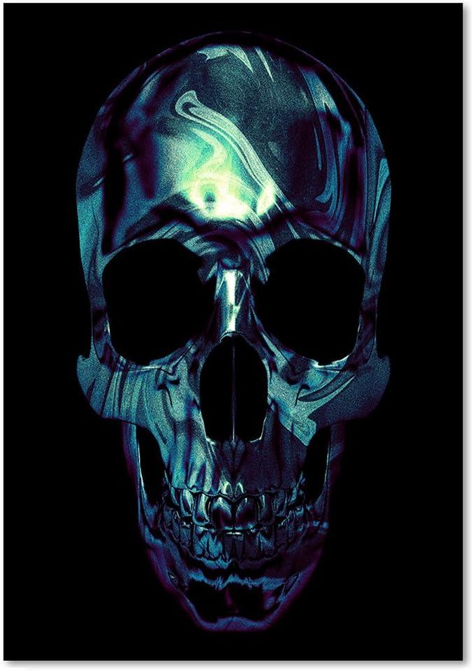 Acheter tableau peinture tete de mort online 11