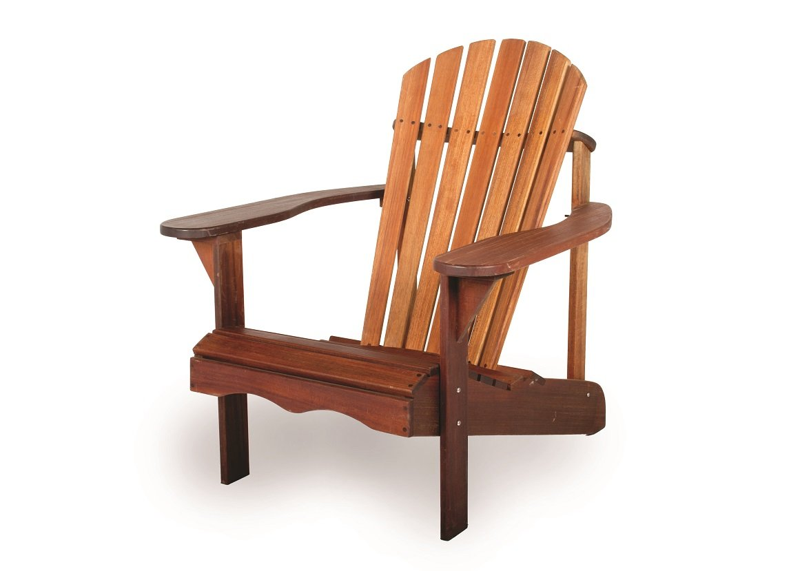 Adirondack Chair exclusive mahogany hardwood, stainless steel hardware, finished with lineseed oil MaximaVida
