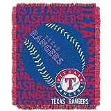 MLB Texas Rangers 48 x 60-Inch Double Play Jacquard Triple Woven Throw