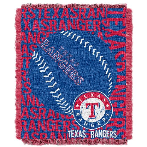 The Northwest Company Officially Licensed MLB Texas Rangers Double Play Jacquard Throw, 48