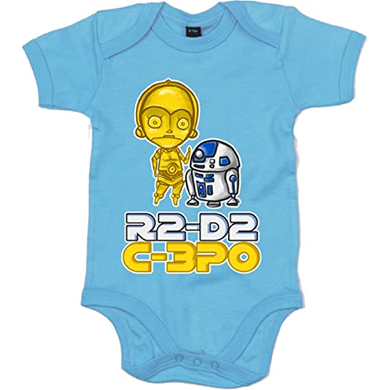 Body bebé Star Wars C-3PO junto a R2-D2 - Blanco, 6-12 meses ...