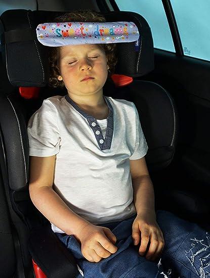 082 2 piezas Diadema para el coche Ajustable Posicionador del Sue/ño para Beb/é soporte de Cabeza del Cochecito Dulces sue/ños Sweet Dreams