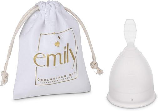Copa menstrual reutilizable Copa única en talla L y TRANSPARENTE - Alternativa práctica y fiable a los tampones y toallas sanitarias