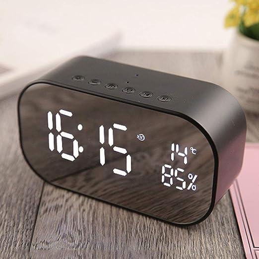 szlsl88 Reloj Despertador con Altavoz, Inalámbrico Bluetooth Reloj ...