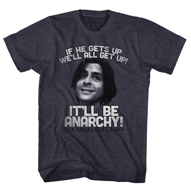 Breakfast Club 1985 Comedy Drama Movie John Bender Anarchy Blue Adult T-Shirt