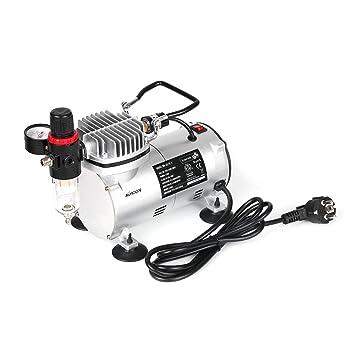 KKmoon Mini Compresor de aire Compresor de Aire de Pistón con Aerógrafo de Acción dual por Gravedad: Amazon.es: Bricolaje y herramientas