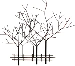 Collectible Badges Decorative Tree Motif Wrought Iron Metal Wall Plaque