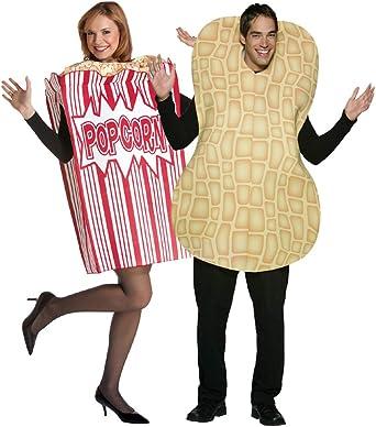 Future Memories Set de Disfraz de Palomitas de maíz y Cacahuete para Adultos: Amazon.es: Ropa y accesorios